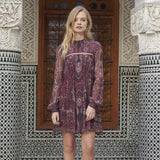 Labyrinth Paisley Mini Dress by The Jetset Diaries
