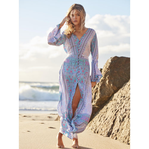 Bora Bora Button Maxi Dress by Gypsy Mermaid
