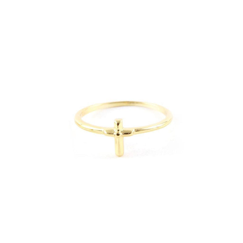 Lucky Charm Cross Ring by Ettika