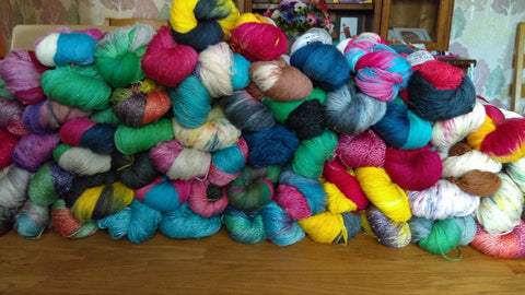 Wool n Stuff Hand Dyed Yarn