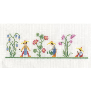 DMC Cross Stitch Vintage Garden Bookmark Kits - Bluebell Garden (BK 1889) - Craft