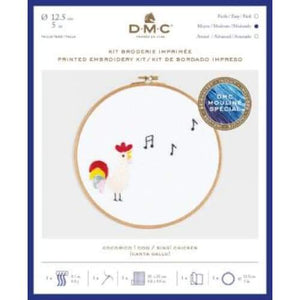 DMC Printed Embroidery Kits Pets Party (Small) - Sing Chicken - Craft