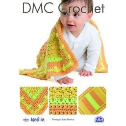 DMC Crochet Pattern Pineapple Baby Blanket 15350L/2 - Patterns