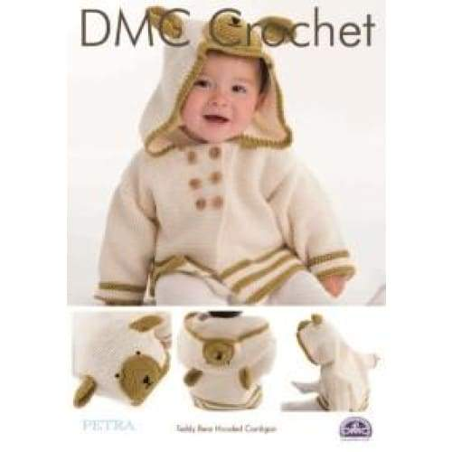 DMC Teddy Bear Hooded Cardigan Crochet Pattern 15327 - Patterns