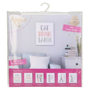 Anchor Eat Drink Laugh XXL Cross Stitch