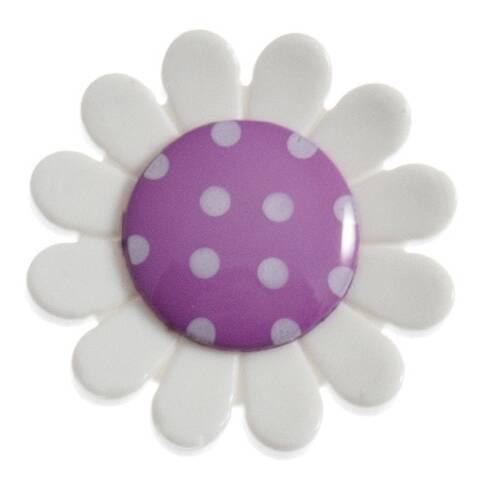 Hemline Large Daisy Button Pack of 2