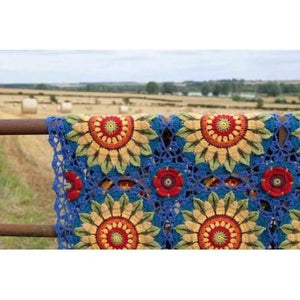 Janie Crow Fields of Gold Crochet Blanket Pattern - Patterns
