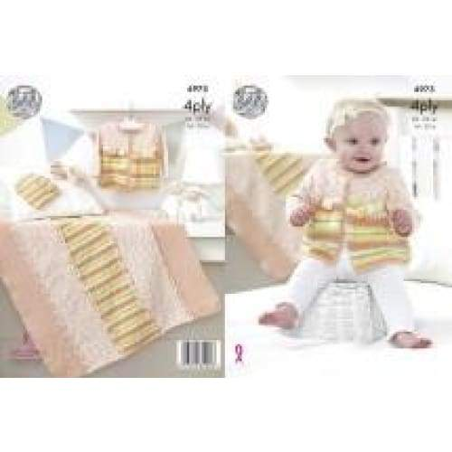 King Cole Baby 4 Ply Knitting Pattern 4975 - Patterns