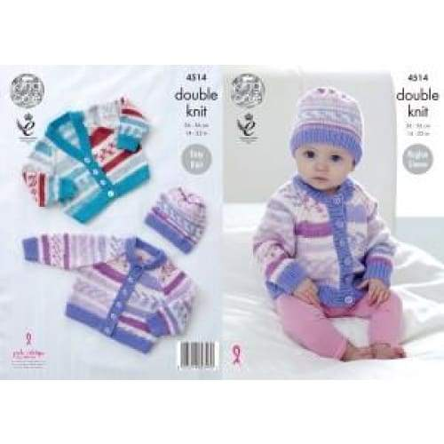 King Cole Baby Cherish DK Knitting Pattern 4514 - Patterns