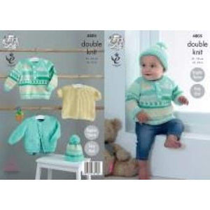 King Cole Baby DK Knitting Pattern 4805 - Patterns