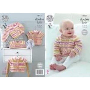 King Cole Baby DK Knitting Pattern 4813 - Patterns