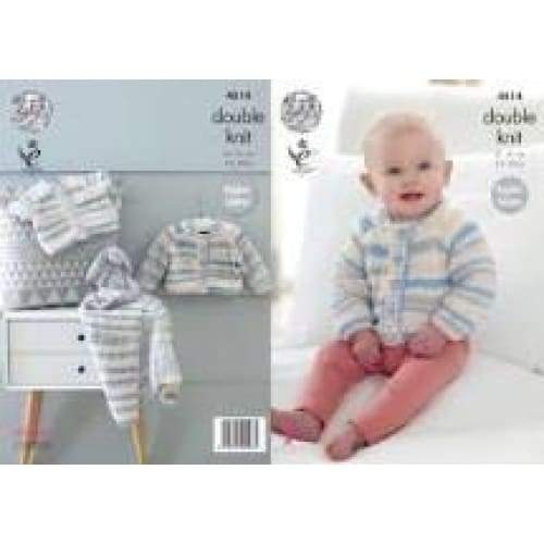 King Cole Baby DK Knitting Pattern 4814 - Patterns