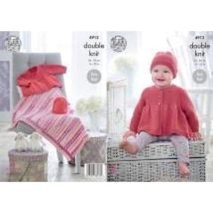 King Cole Baby DK Knitting Pattern 4912 - Patterns
