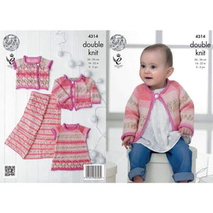 King Cole Baby Drifter DK Knitting Pattern 4314 - Patterns