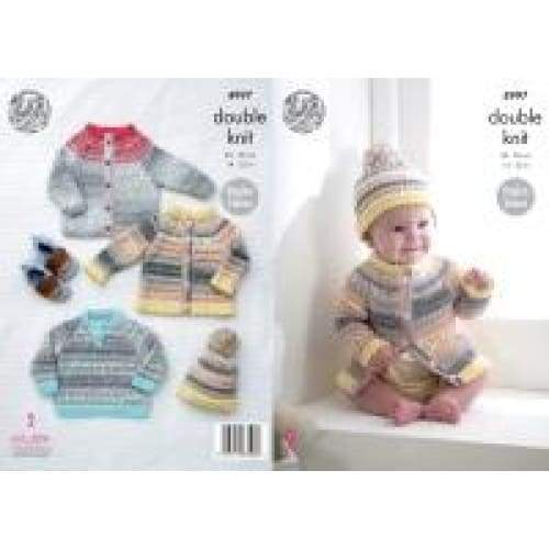 King Cole Baby Drifter DK Raglan Sleeve Knitting Pattern 4997 - Patterns