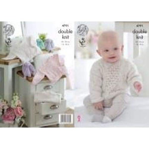King Cole Baby Smarty DK Knitting Pattern 4791 - Patterns