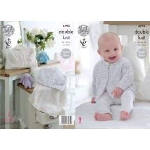 King Cole Baby Smarty DK Knitting Pattern 4794 - Patterns