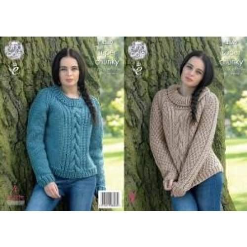 King Cole Big Value Super Chunky Knitting Pattern 4360 - Patterns