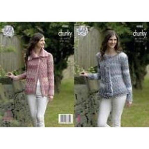 King Cole Cotswold Chunky Cardigan Pattern 4982 - Patterns