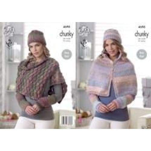 King Cole Cotswold Chunky Knitting Pattern 4698 - Patterns