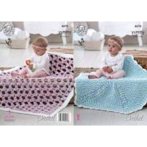 King Cole Crochet Yummy Pattern 4678 - Patterns