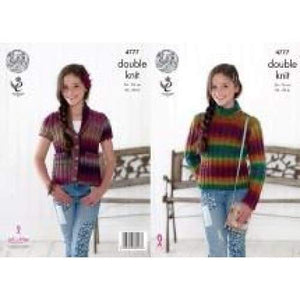 King Cole Kids Riot DK Knitting Pattern 4777 - Patterns