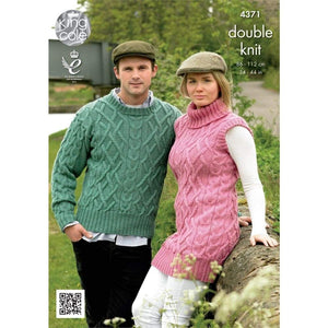 King Cole Merino DK Knitting Pattern 4371 - Patterns