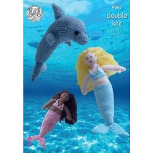 King Cole Mermaid & Dolphin DK Pattern 9063 - Patterns