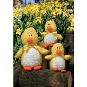 King Cole Mother Duck and Baby Duckling Knitting Pattern 9020 - Patterns