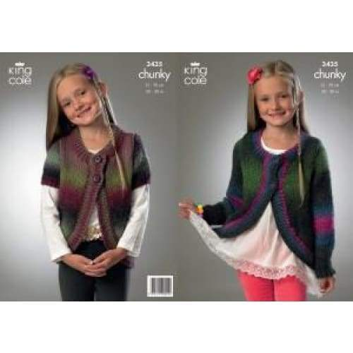 King Cole Riot Chunky Knitting Pattern 3435 - Patterns