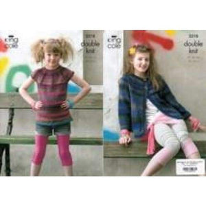 King Cole Riot DK Kids Knitting Pattern 3218 - Patterns