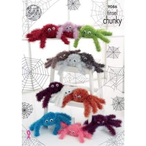 King Cole Spiders Tinsel Chunky Pattern 9086 - Patterns