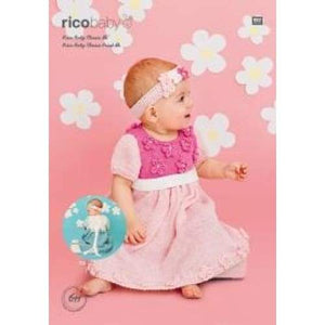 Rico Baby Classic DK Dress and Headband Pattern 611 - Patterns