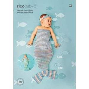 Rico Baby Classic DK Mermaid Tail and Headband Pattern 610 - Patterns