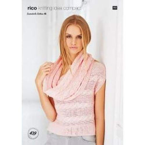 Rico Essentials Cotton DK Knitting Pattern 439 - Patterns