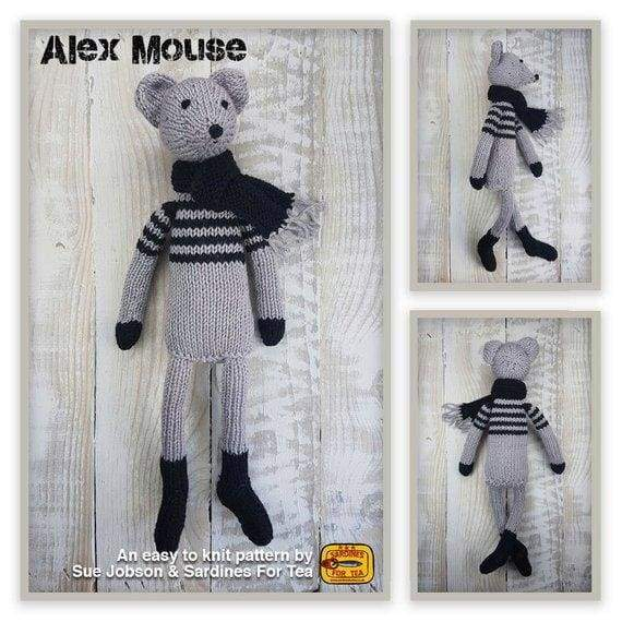 Alex the Mouse Knitting Pattern - Patterns