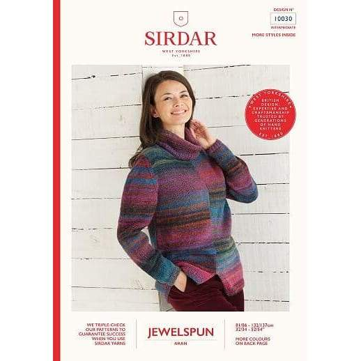 Sirdar Jewelspun Aran Knitting Pattern 10030 - Patterns