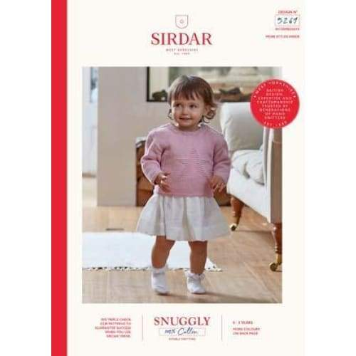 Sirdar Snuggly 100% Cotton Baby DK Knitting Pattern 5269 - Patterns