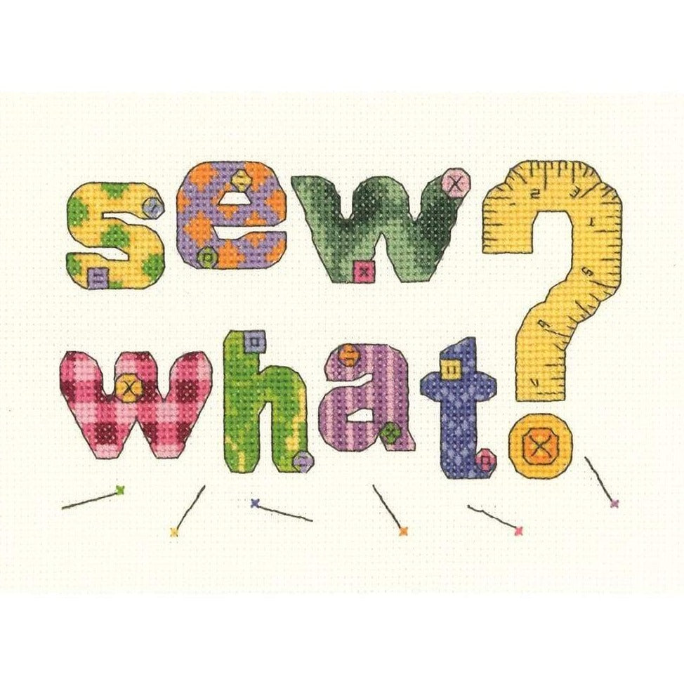 Sew What counted cross stitch - Craft