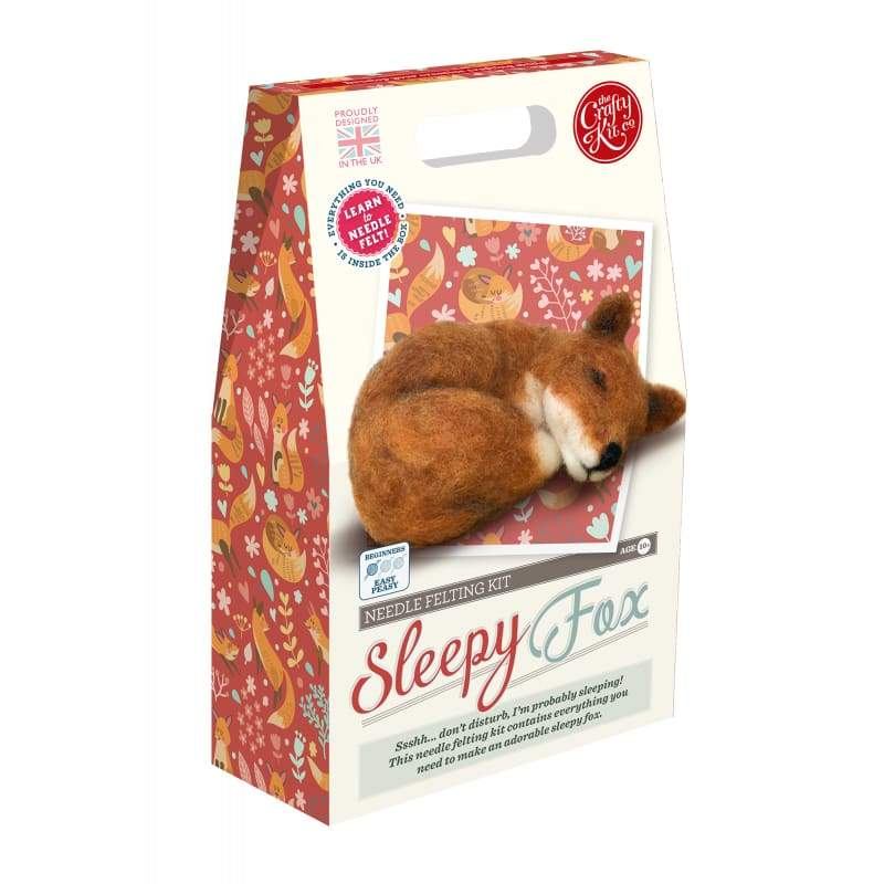 The Crafty Kit Company Sleepy Fox Needle Felting Kit - Craft