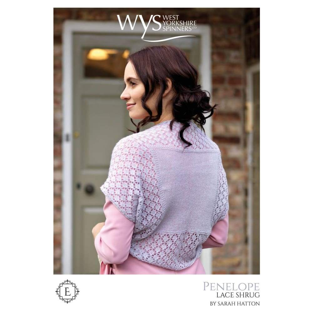West Yorkshire Spinners Penelope Lace Shrug Knitting Pattern - Patterns