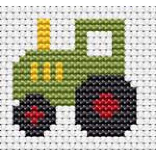 Fat Cat Cross Stitch Easy Peasy - Tractor - Craft