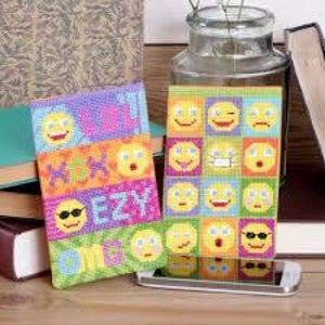 Twilleys of Stamford Smiley Says Cross Stitch Phone Cases - Craft