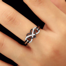 Crystal Infinity Heart Finger Rings