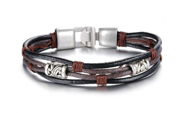Handmade Genuine Leather Men's Bracelet - Ashley Jewels - 2