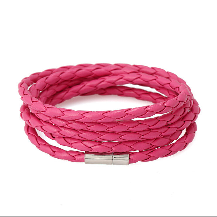 5 Laps Unisex Leather Bracelet - Ashley Jewels - 5