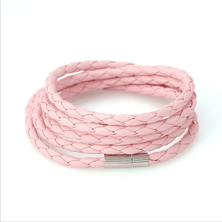 5 Laps Unisex Leather Bracelet - Ashley Jewels - 6