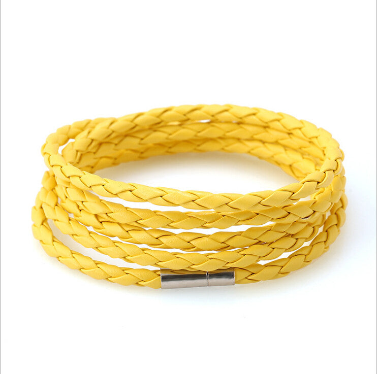 5 Laps Unisex Leather Bracelet - Ashley Jewels - 10