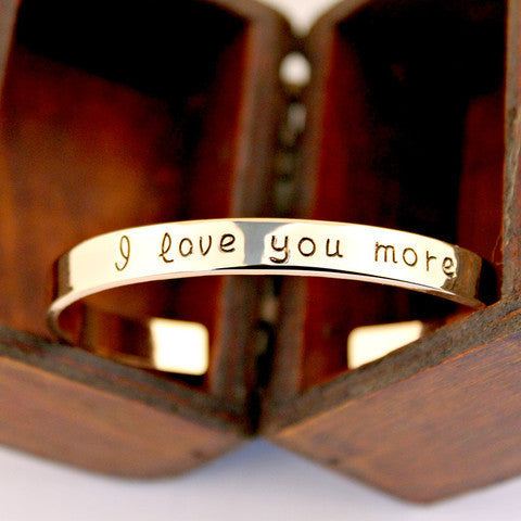 I Love You More Bangle - Ashley Jewels - 5