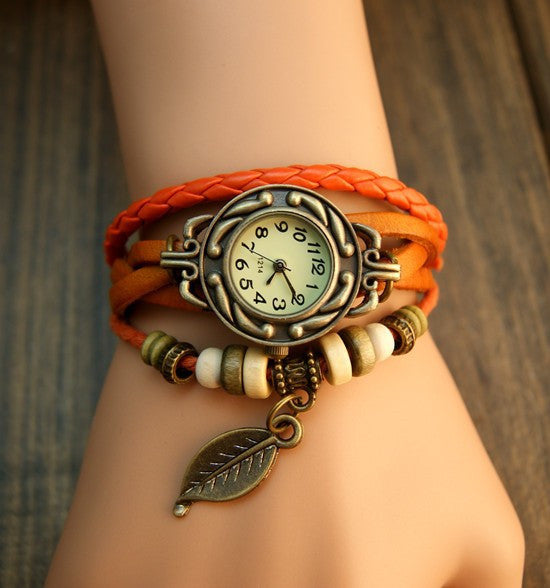 Free Leaf Vintage Wrap Watch with Free Gift Box - Ashley Jewels - 3